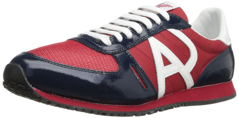 ARMANI JEANS MENS SUAD SNEAKERS IN RED (VM524-4L)