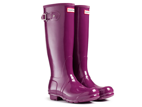 Hunter Womens Original Tall Gloss Rain Boots (W23616-DKR)