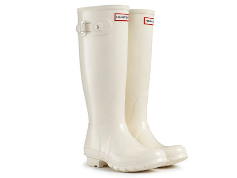 Hunter Womens Original Tall Gloss Rain Boots (W23616-EML)