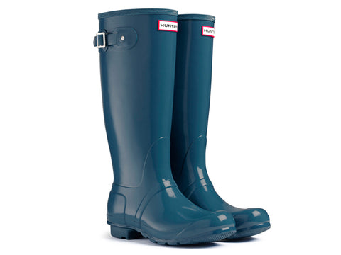 Hunter Womens Original Tall Gloss Rain Boots (W23616-FTB)