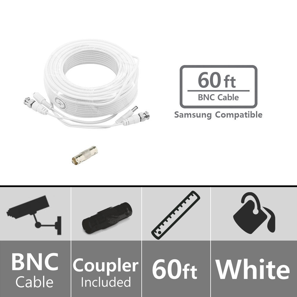 Soltech Sts Nwcb60 60ft Bnc Video Power Cable Security Wiring Diagram