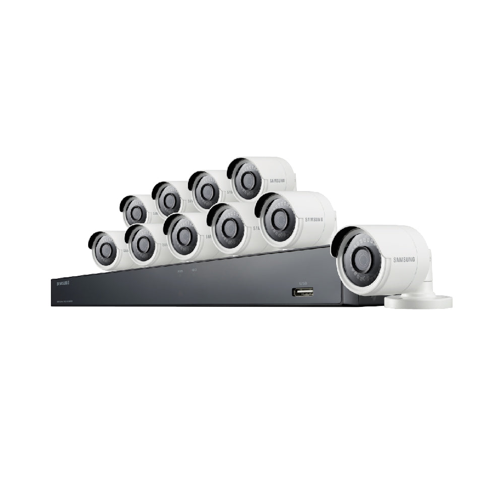 Sdh C85100bf Samsung 16 Channel 4 Mp Security System With 2tb Hard Port Cctv Camera Wiring Diagram Drive 10 Super Hd Bullet Cameras And 82 Night Vision