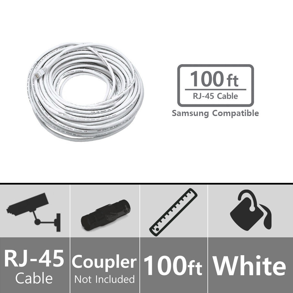 Soltech Sts Ca100 100ft Rj 45 Cat5e Cable White