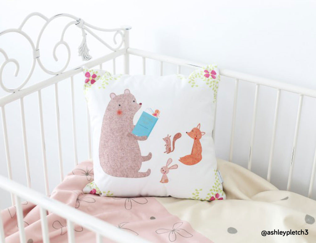 Throw Pillow by Emma Talbot for Mouse and Magpie
