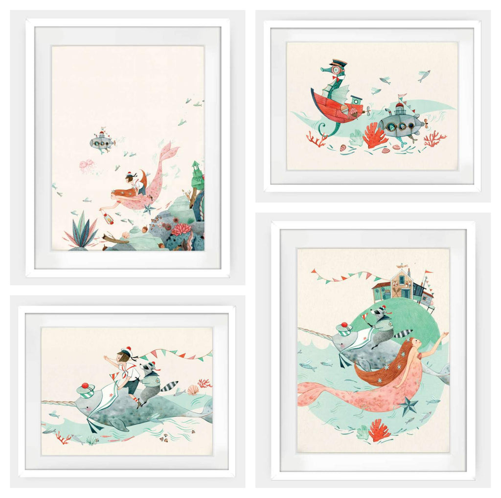 Bathroom Wall Art by Elodie Coudray for Mouse and Magpie
