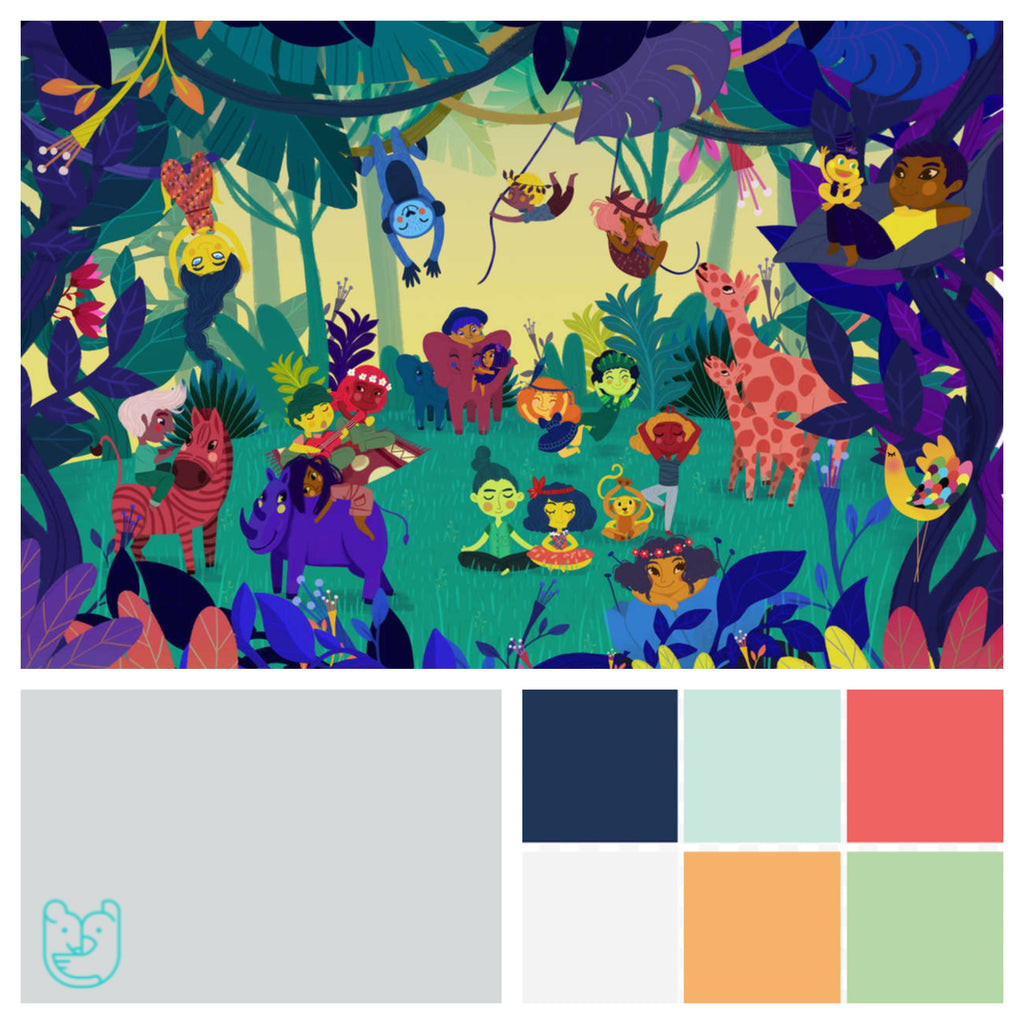 Gender neutral kids' room colors jungle theme