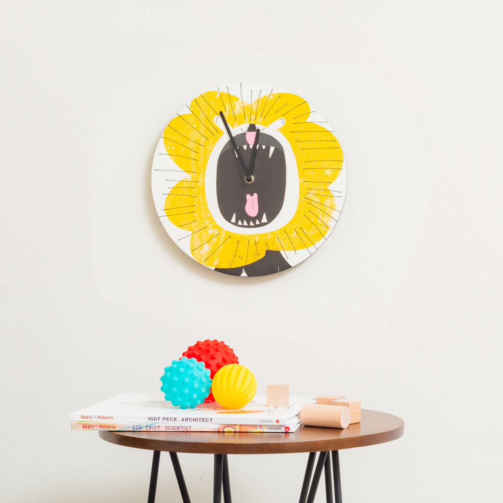 Lion clock for playroom