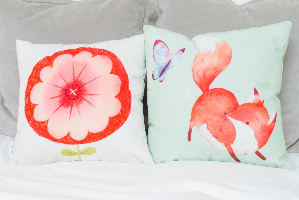 Throw Pillows by Mouse and Magpie