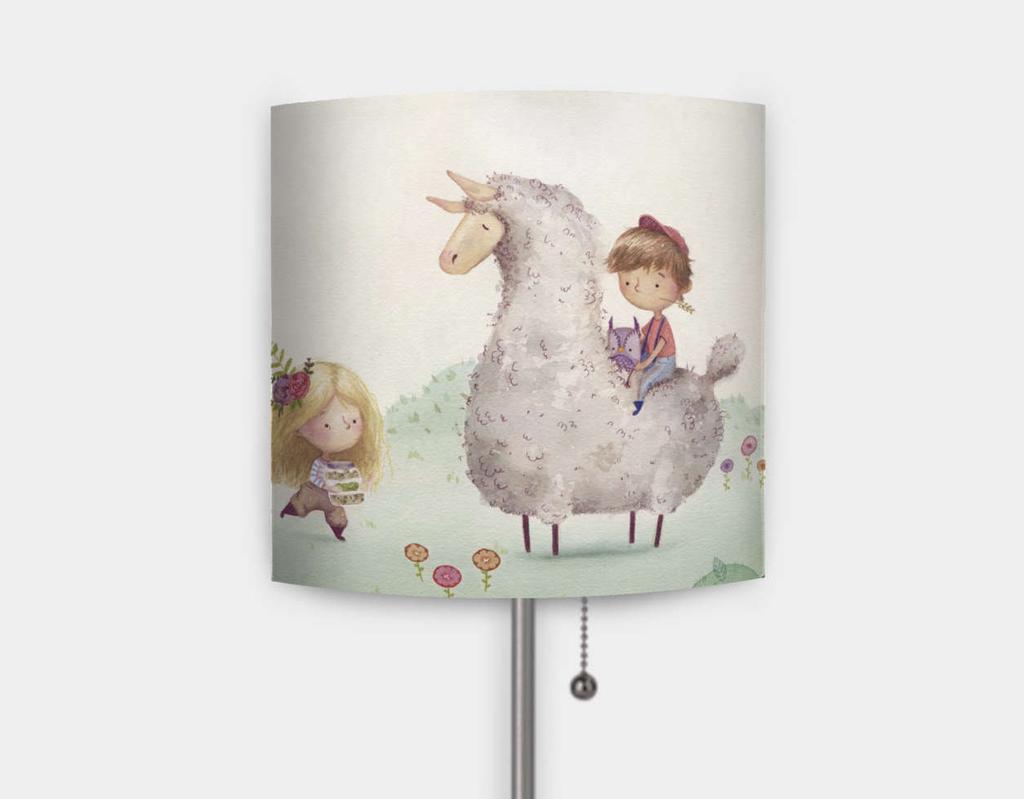Garden Party Lamp Mouse and Magpie