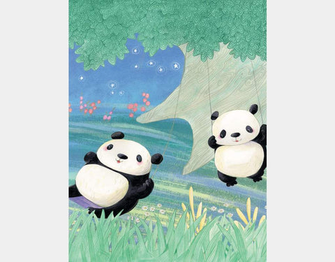 Panda Artwork Mouse and Magpie