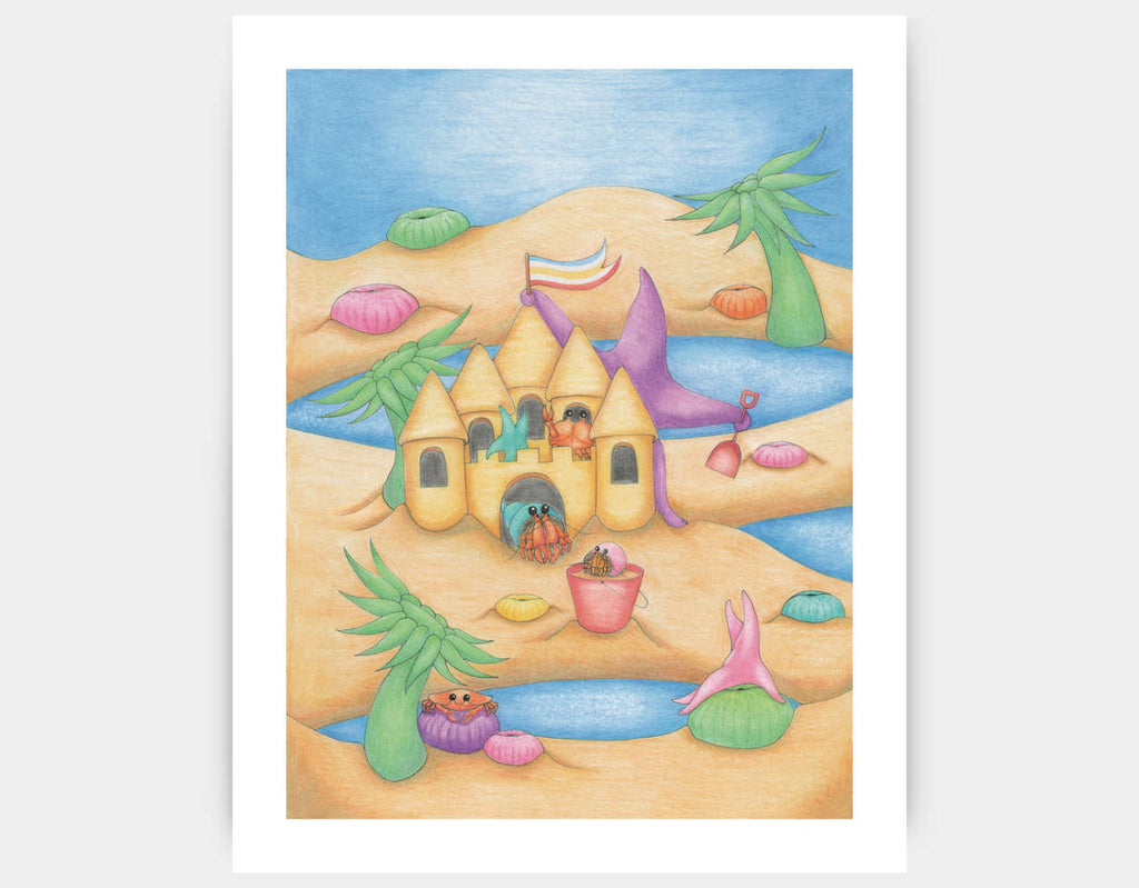 Sandcastle Star Art Print by Maura Stockton Wang - Large