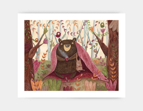 In the Middle of the Forest Art Print by Aleksandra Szmidt - Large