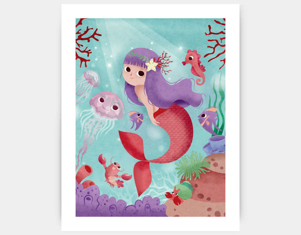 My Friends Under the Sea Art Print by Valentina Belloni - Large