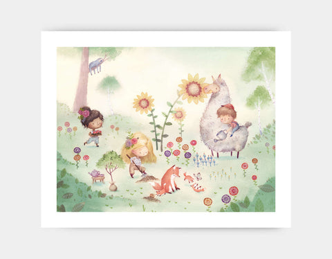Garden Party Art Print by Neesha Hudson - Large