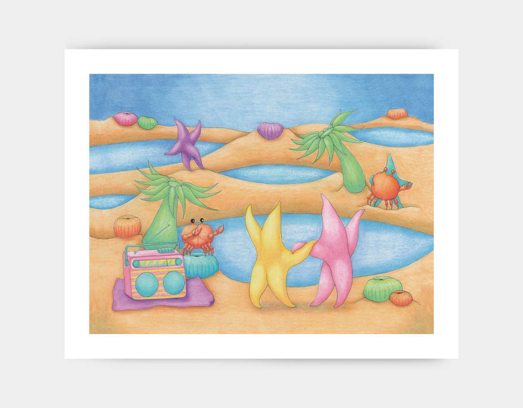 Dancing on the Beach Art Print by Maura Stockton Wang - Large
