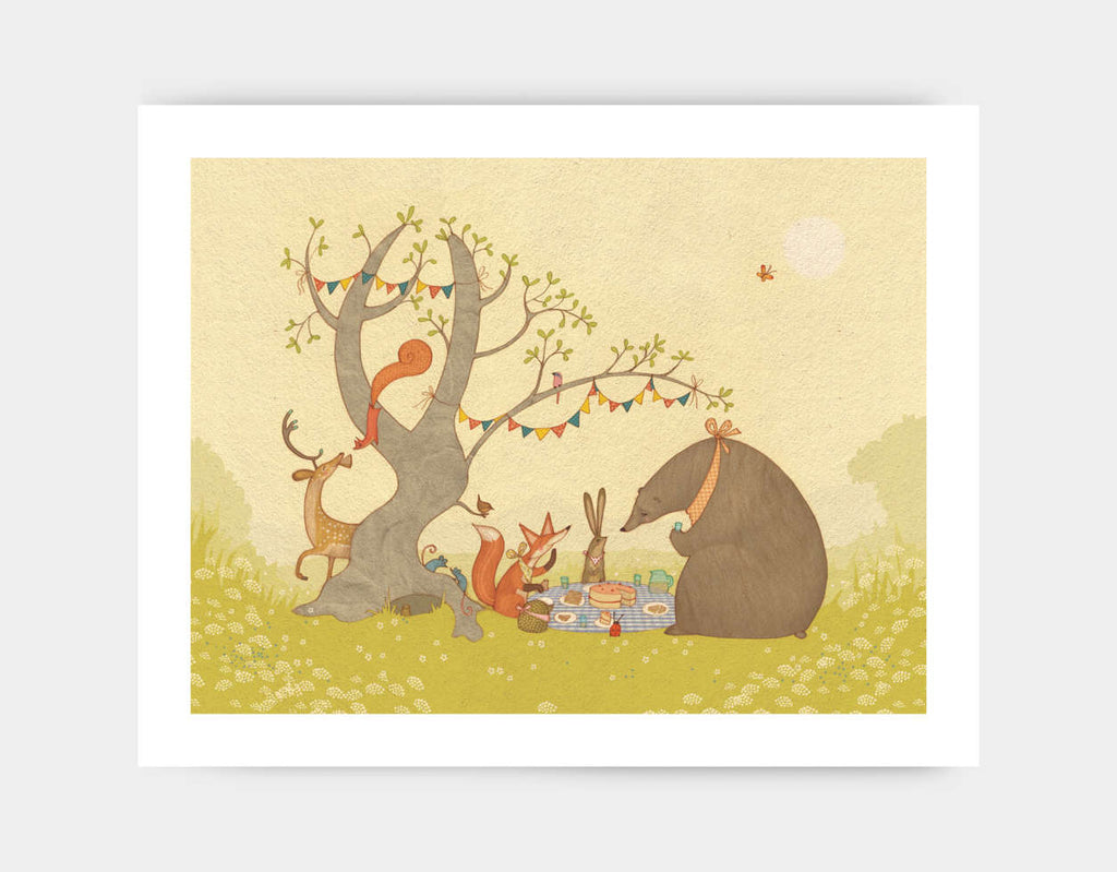 Picnic Under the Tree Art Print by Alexandra Ball - Large