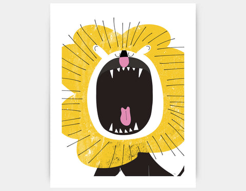 Roaring Lion Art Print by Pragya Kothari - Large