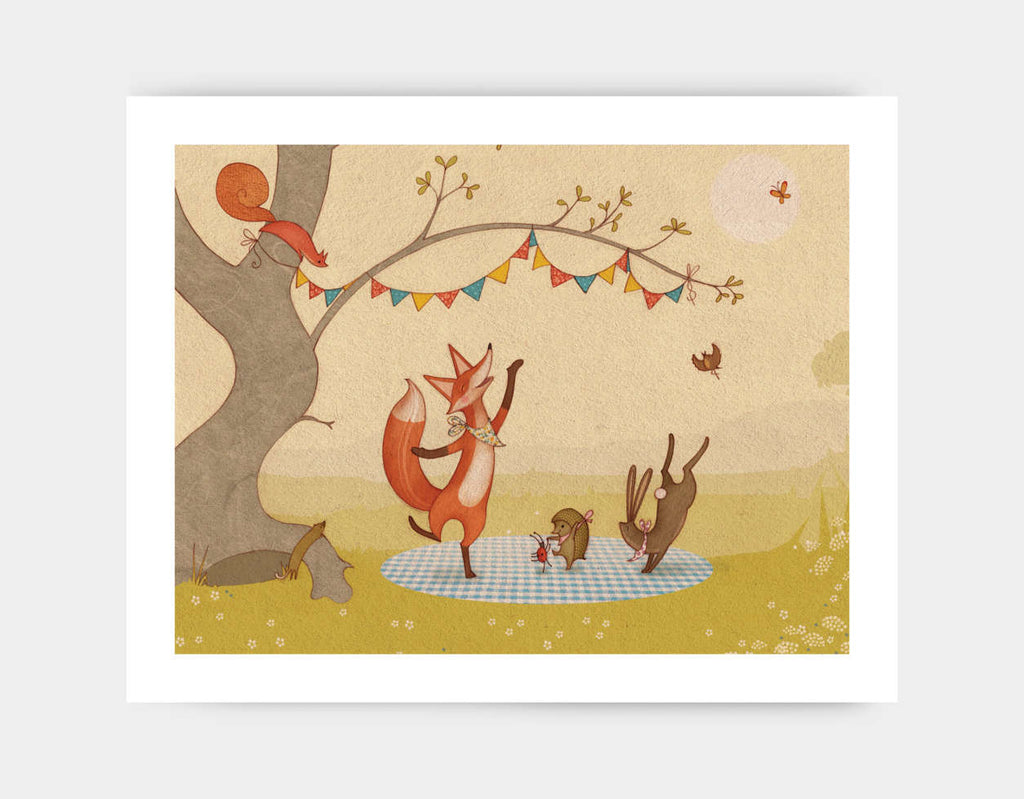 Country Dancing Art Print by Alexandra Ball - Large