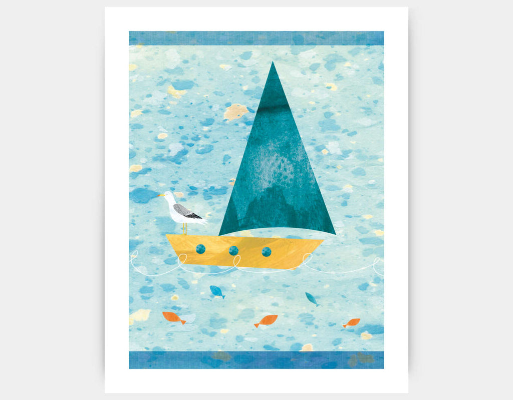 Set Sail Art Print by Christopher Lyles - Large