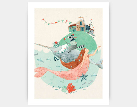 Dream Companions Art Print by Elodie Coudray - Large