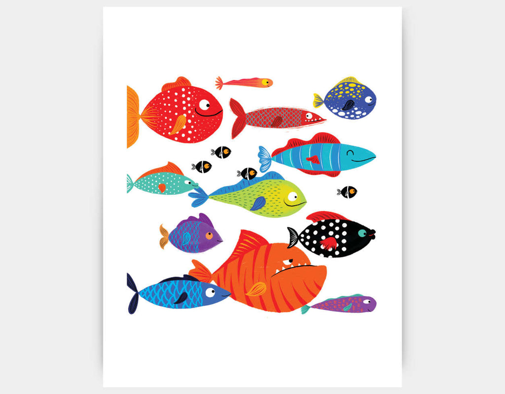 School of Fish Art Print by Hazel Quintanilla - Large