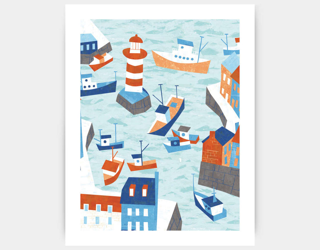 Fishing Village Art Print by Kyle Reed - Large