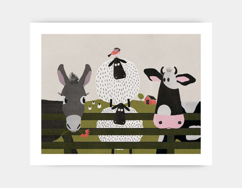 On the Farm Art Print by Mel Armstrong - Large