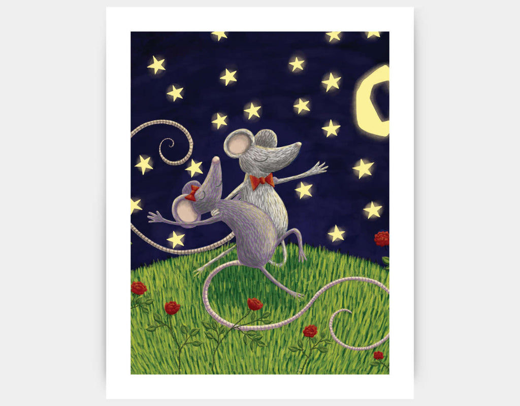 Tango by Moonlight Art Print by Julia Collard - Large
