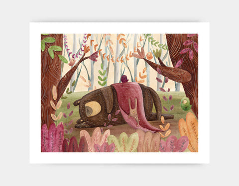 Time to Nap Art Print by Aleksandra Szmidt - Large