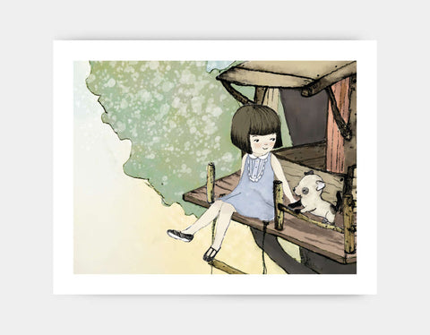 Treehouse Time Art Print by Paola Zakimi - Large