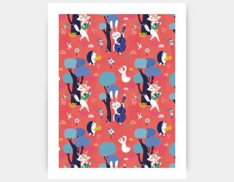 Forest Party Art Print by Antoana Oreski - Large