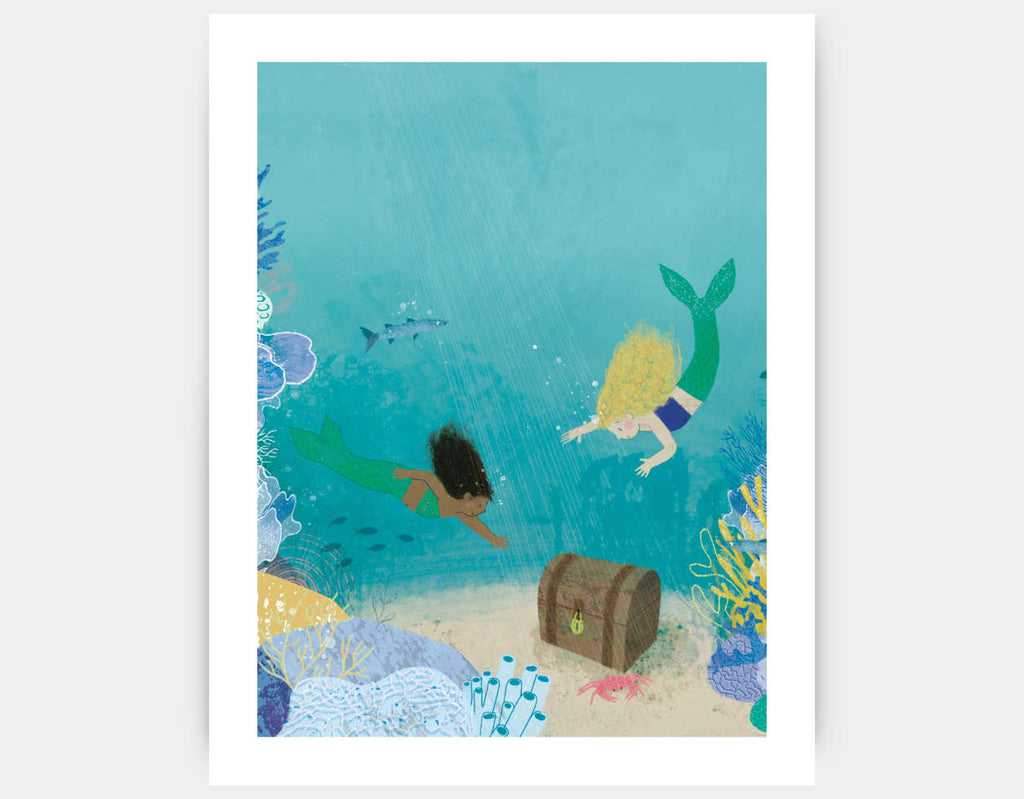 Finding Treasure Art Print by Katie Rewse - Large