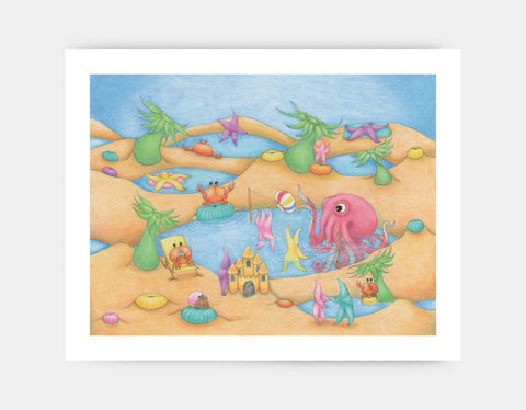 Tide Pool Party Art Print by Maura Stockton Wang - Large