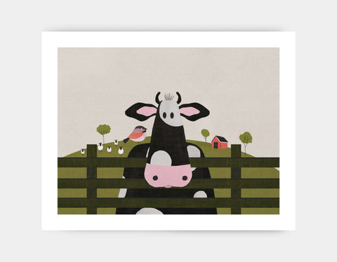 Caley the Cow Art Print by Mel Armstrong - Large
