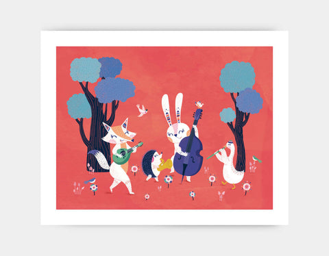 Forest Band Art Print by Antoana Oreski - Large
