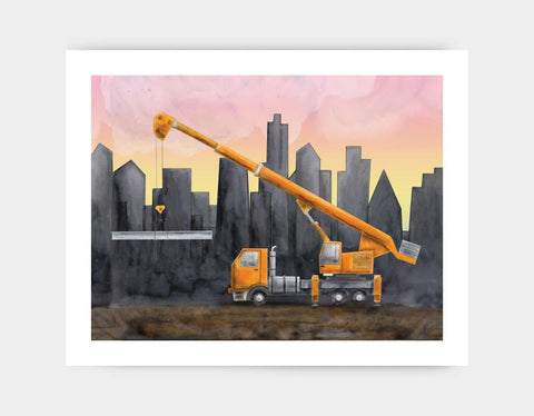 Yellow Crane Art Print by Brett Blumenthal - Large