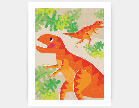 Mighty T-Rex Art Print by Liza Lewis - Large