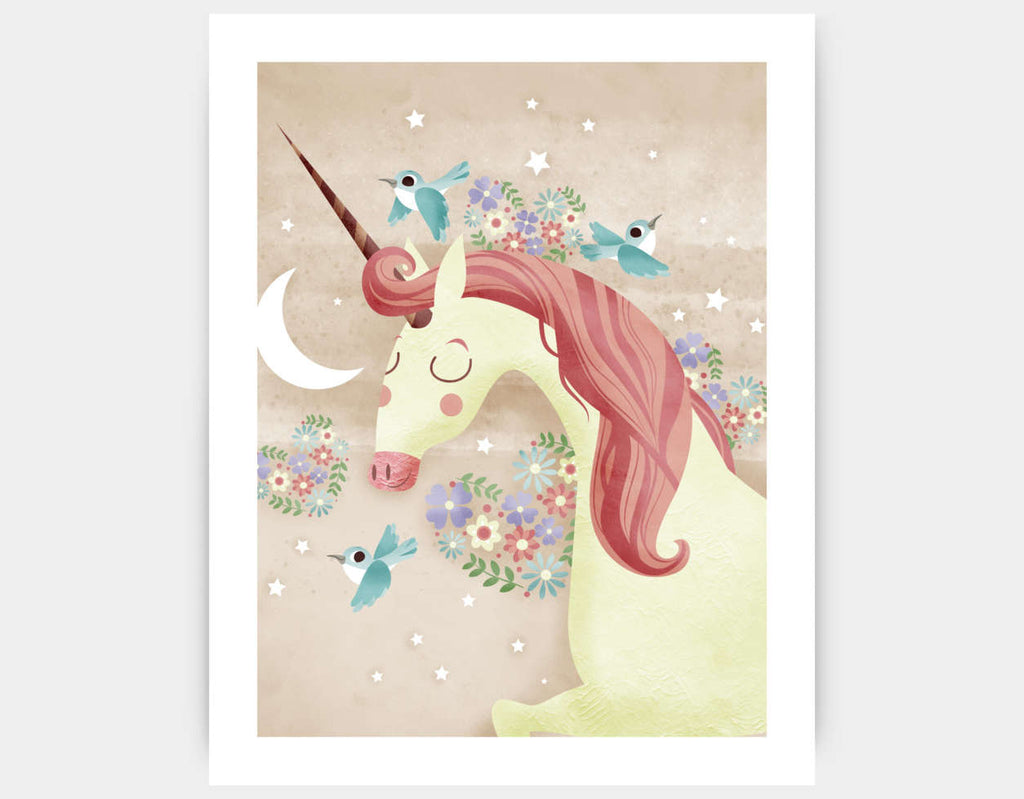 Magical Unicorn Art Print by Valentina Belloni - Large