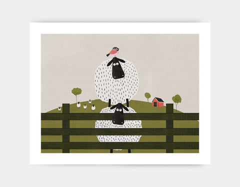 Counting Sheep Art Print by Mel Armstrong - Large