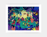 Jungle Celebration Art Print by Alexandra Petracchi - Large