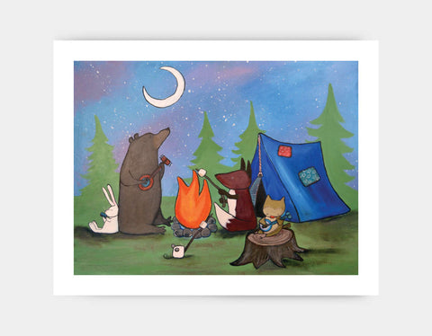 Camping with Friends Art Print by Andrea Doss - Large