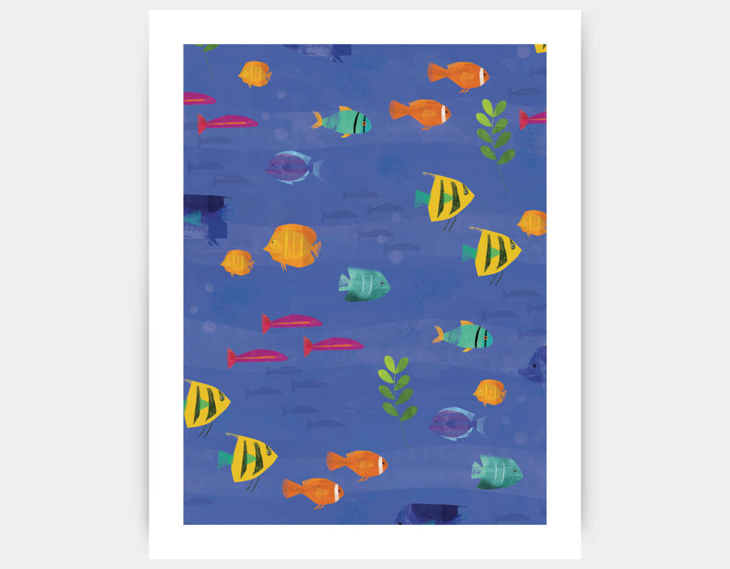 Tropical Fish Art Print by Amy Schimler-Safford - Large
