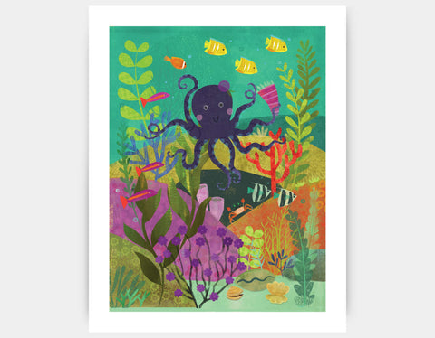 Octopus Garden Art Print by Amy Schimler-Safford - Large