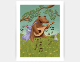 Bear's Jam Session Art Print by Julia Collard - Large