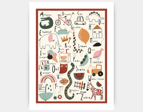 Alphabet Art Print Art Print by Daisy Green - Large