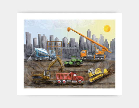 Under Construction Art Print by Brett Blumenthal - Large