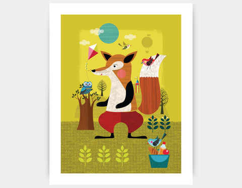 Felix the Fox Art Print by Ellen Giggenbach - Large