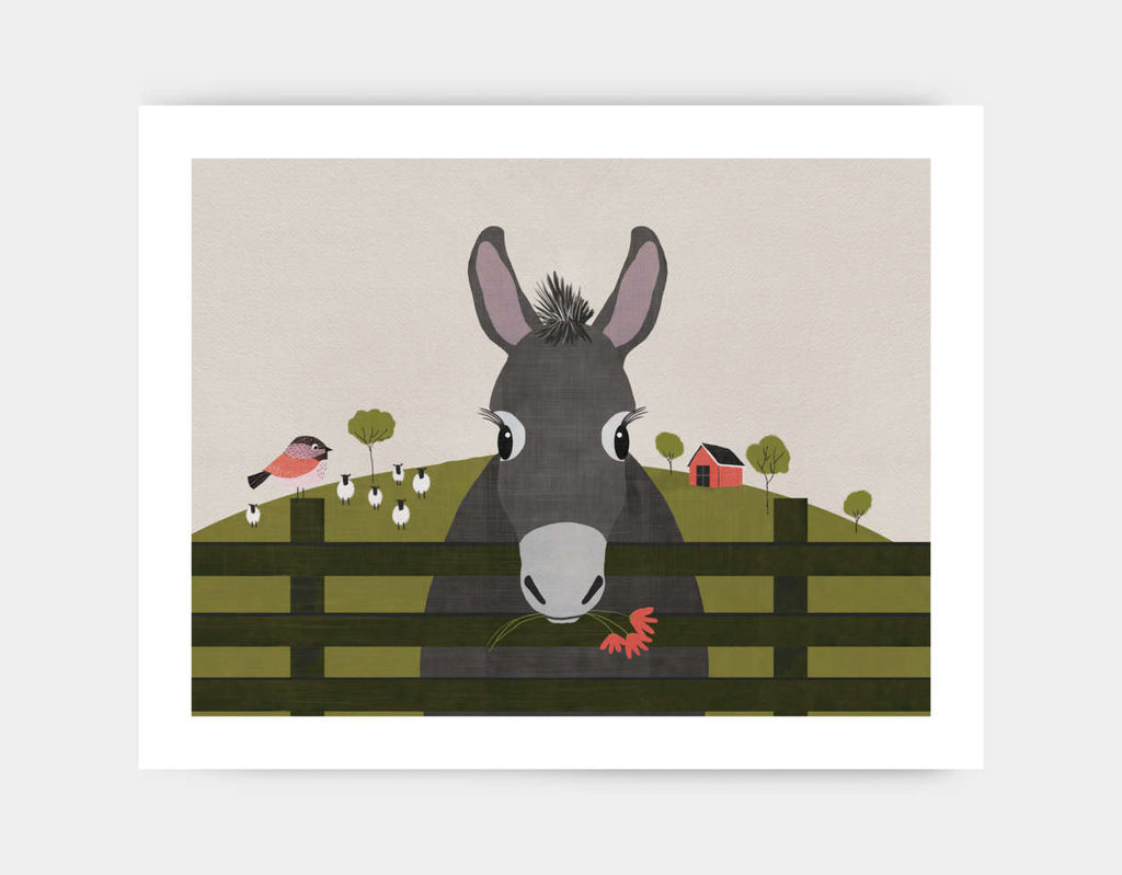 Dolores the Donkey Art Print by Mel Armstrong - Large