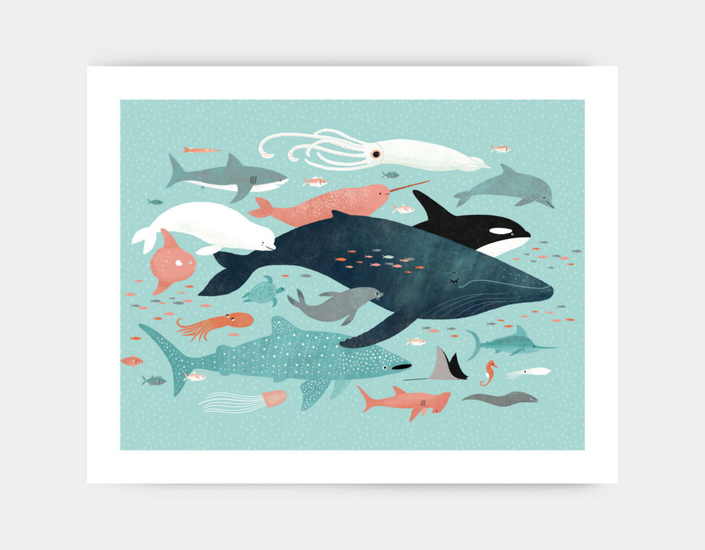 Under the Sea Menagerie Art Print by Emily Dove - Large