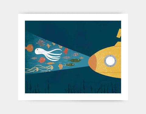 Under the Sea Art Print by Rebecca Huang - Large